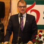 Pääministeri Juha Sipilä oli juhlapuhujana Mansikka 100 vuotta -tapahtumassa Suonenjoella 24.9.2016.