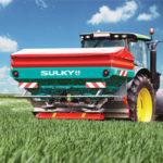 Sulky-levittimien mallit: X40+: 1900 l - 3000 l, levitys 44 m asti X50+: 2400 l - 4000 l, levitys 50 m asti