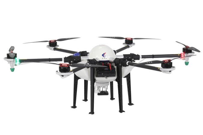 Tämä drone-malli on esillä Sarkamessuuilla Nekon osastolla 7d..